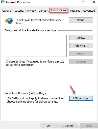 Impostazioni LAN min
