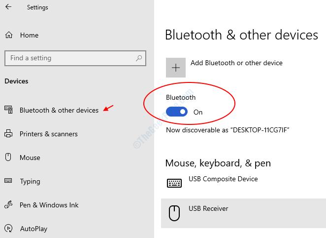 Bluetooth Tuen attivato