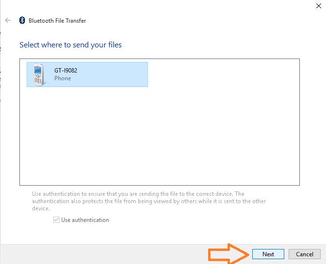 invia-file-bluetooth