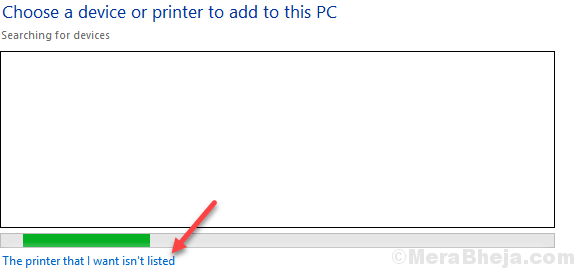 La stampante che desidero non è nell'elenco Min.