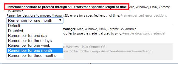 Impostazioni SSL