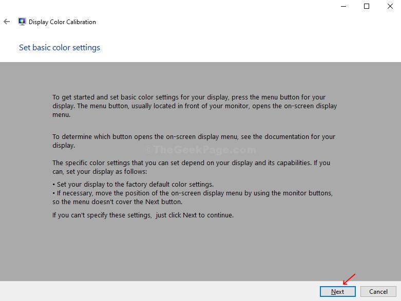 Seguire le istruzioni per le impostazioni dello schermo se non è possibile fare clic su Avanti
