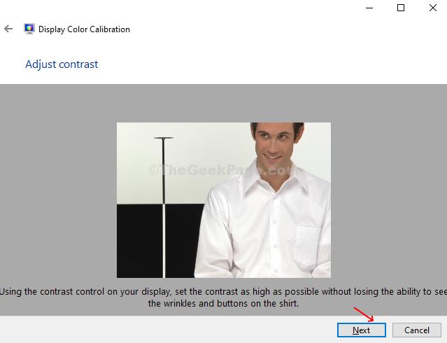 Regola il contrasto Controlla un altro esempio Avanti