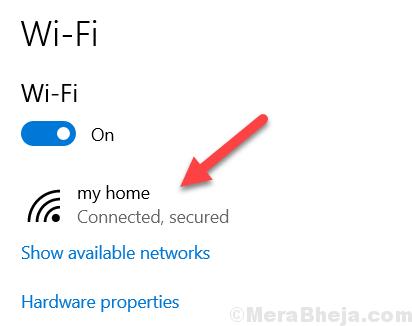 Proprietà min Wi-Fi