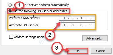 Server DNS preferito Ok