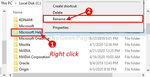 Rinomina della Guida di Microsoft