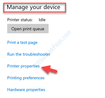 Gestisci le proprietà della stampante del tuo dispositivo