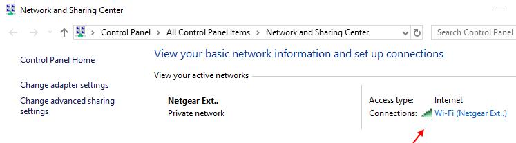 Nome Wi-Fi del centro di condivisione di rete