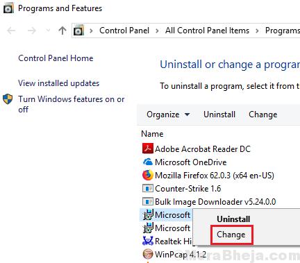Cambia Microsoft