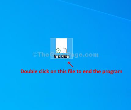 File salvato Fare doppio clic sul programma chiuso