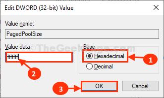 Dimensioni del gruppo di pagine Fare doppio clic