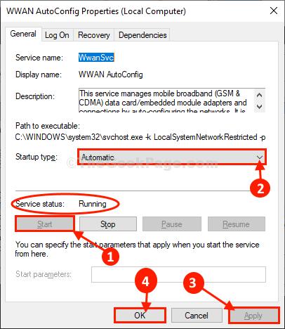 Configurazione automatica di Wwan