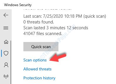 Opzioni di scansione per la protezione da virus e minacce