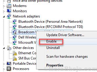 Abilita controller Ethernet