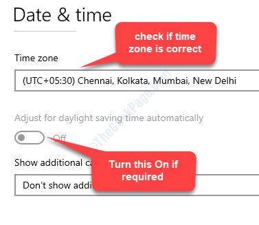 Verificare la data e l'ora se il fuso orario è corretto Impostazione dell'ora legale Attiva automaticamente