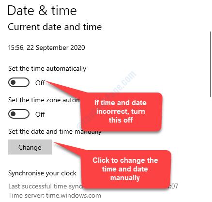 Se la data e l'ora non sono corrette Impostare l'ora Spegnimento automatico Impostare la data e l'ora Modificare manualmente