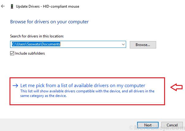 Aggiorna driver del mouse min
