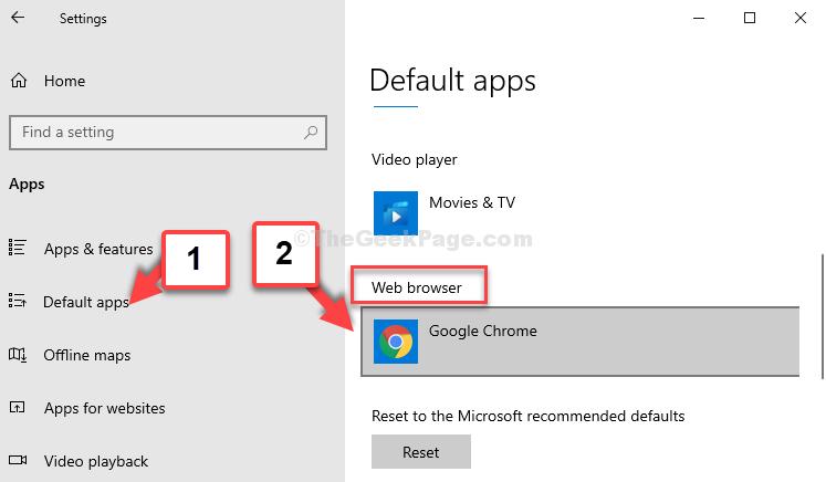 App predefinite Browser web Google Chrome