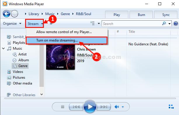 Attiva lo streaming multimediale
