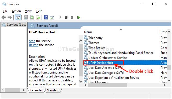 Upnp Device Host Doppio clic
