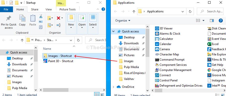 Trascina e rilascia i file anche nella cartella Startu in modo che si avviino automaticamente all'avvio del PC