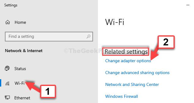 Impostazioni Impostazioni relative al Wi-Fi Modifica le opzioni dell'adattatore