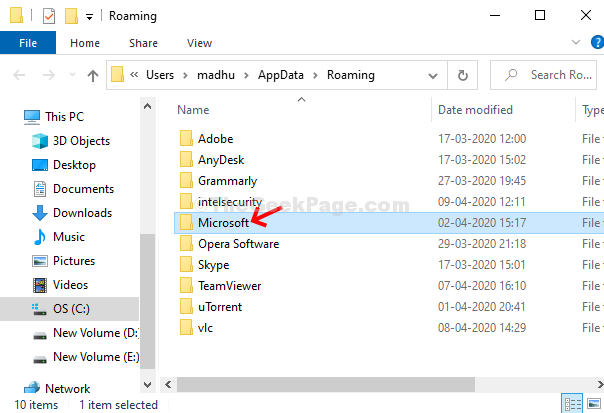 Appdata Roaming Microsoft Doppio clic
