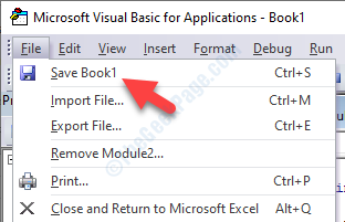 Scheda File Editor Vba Salva libro 1