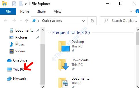 Win + E File Explorer Lato sinistro di questo PC