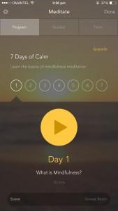 App_Calm gratuita per iPhone