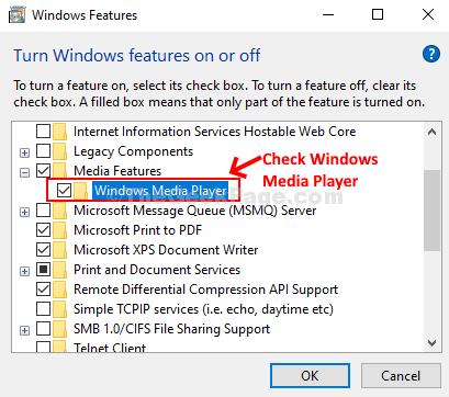 Controlla Windows Media Player Ok