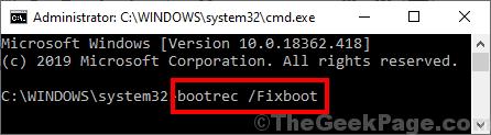 Bootrec Fixboot