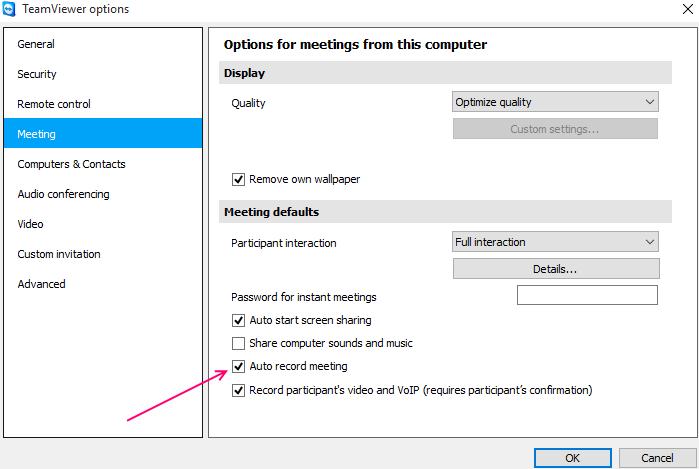 registrazione automatica del visualizzatore del computer