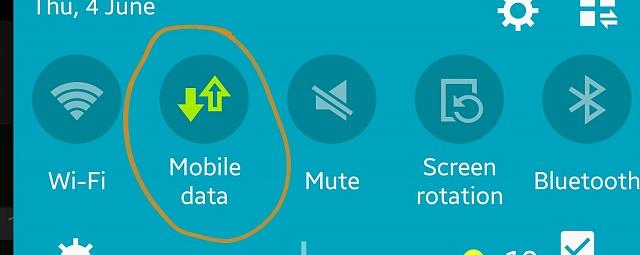 Dati mobili disattivati
