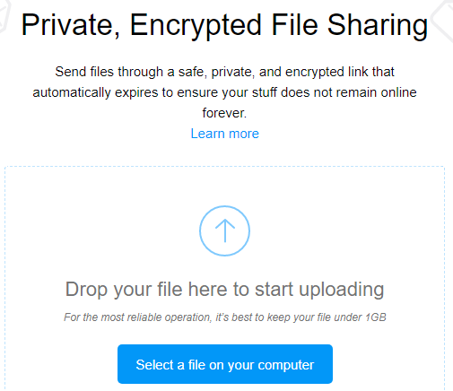 Firefox Invia Condivisione file
