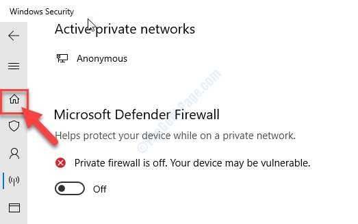 Avvia Windows Security