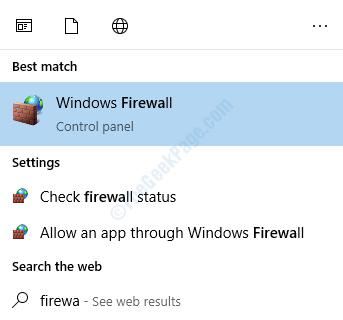 Ricerca firewall