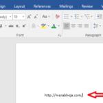 Come inserire e modificare il colore dei collegamenti ipertestuali in Word 2016