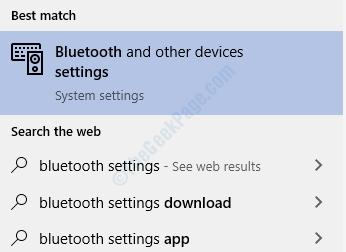 Impostazioni Bluetooth