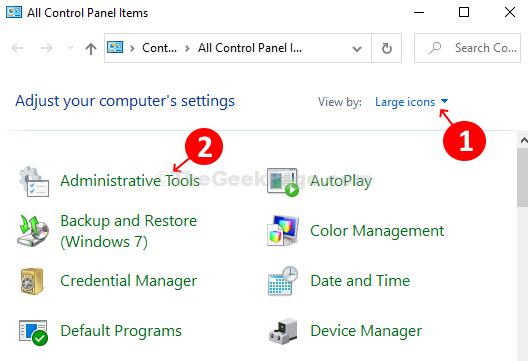 Visualizzazione con icone grandi Strumenti di amministrazione Diagnostica della memoria di Windows