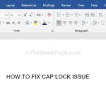 Come risolvere il problema del blocco maiuscole su PC Windows