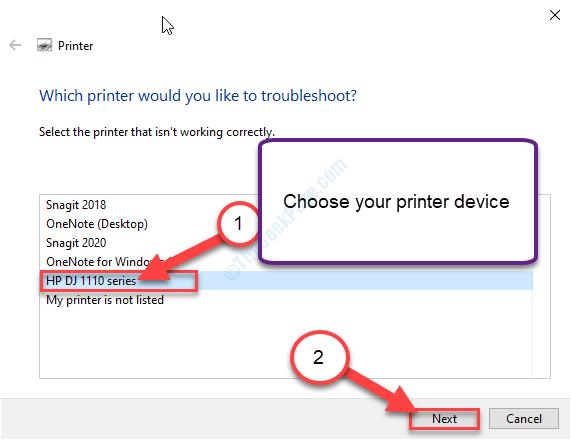 Nuova risoluzione dei problemi della stampante HP Select