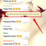 Come sbarazzarsi delle notifiche del codice di sicurezza modificato su Whatsapp
