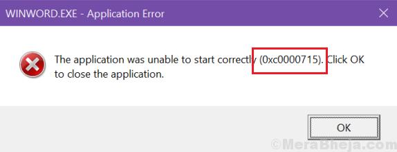 L'applicazione non è stata in grado di avviarsi correttamente (0xc0000715).  Fare clic su OK per chiudere l'applicazione.