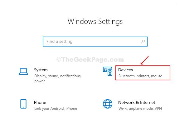 Seleziona i dispositivi dalla finestra di configurazione