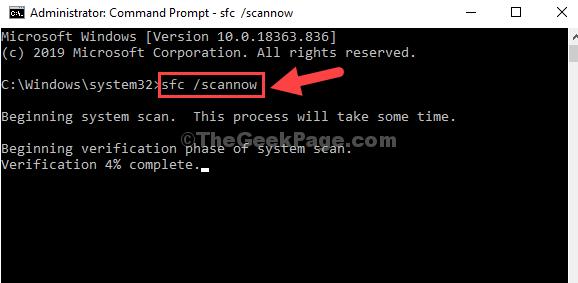 Prompt dei comandi Admin Sfc Mode Scannow Enter