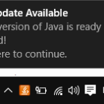 Disabilita la fastidiosa notifica di aggiornamento Java in Windows 10