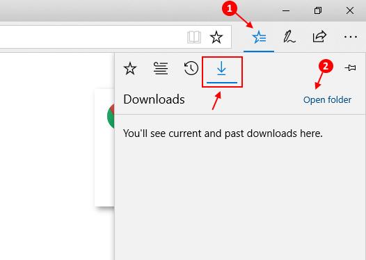 Percorso della cartella di download di Microsoft Edge