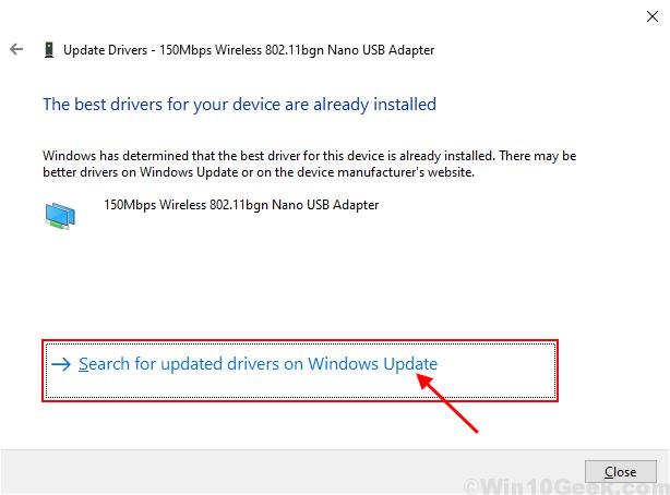 Aggiorna Wifi Windowsupadate