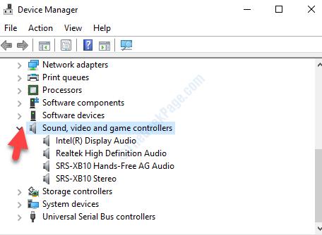 Gestione periferiche Video e audio Controller di gioco Freccia Espandi